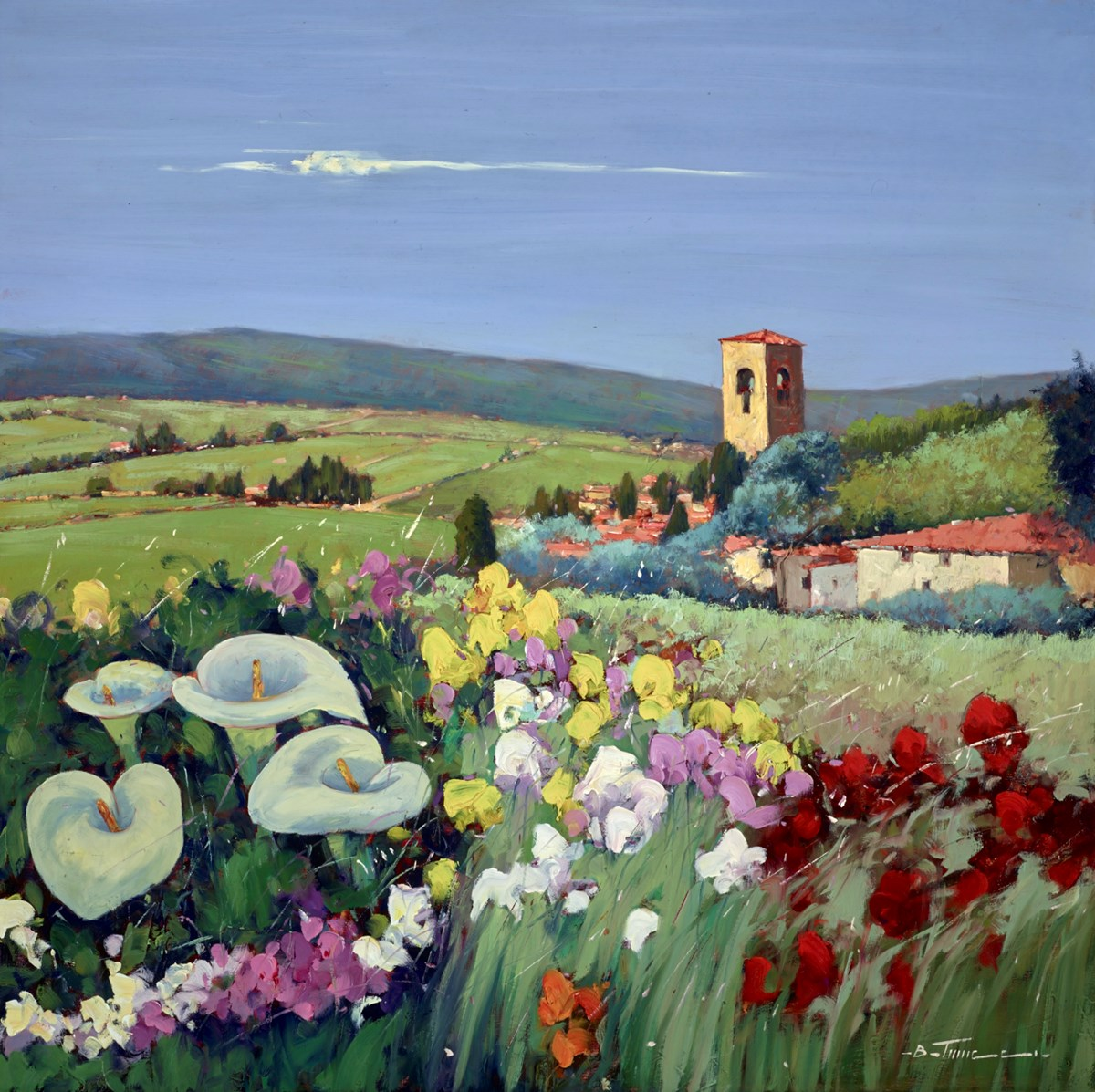 Campi Verdi V by bruno tinucci -  sized 39x39 inches. Available from Whitewall Galleries